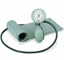 Versandrückläufer boso K1 Mechanisches Blutdruckmessgerät mit Klettenmanschette grau