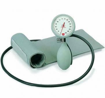 boso K1 Mechanisches Blutdruckmessgerät mit Klettenmanschette/Etui grau