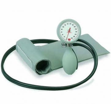 Versandrückläufer boso K2 Mechanisches Blutdruckmessgerät mit Klettenmanschette grau