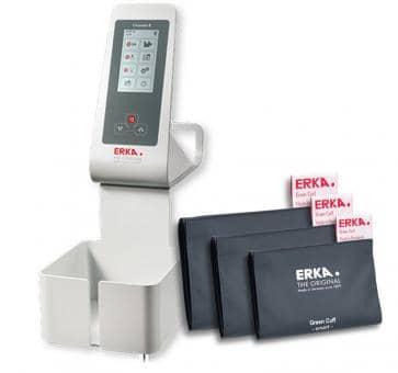 ERKA Erkameter E Flex Oberarm-Blutdruckmessgerät, Green Cuff Smart Rapid Set