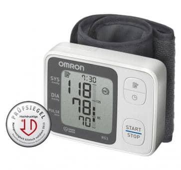 Versandrückläufer OMRON RS3 (HEM-6130-D) Handgelenk-Blutdruckmessgerät