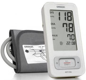 Versandrückläufer OMRON MIT-Elite (HEM-7300-WE) Oberarm-Blutdruckmessgerät