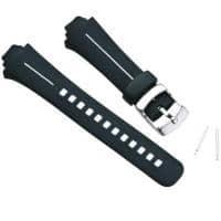 Versandrückläufer Suunto X6HR Armband-Set, schwarz & weiß, Elastomer - auch passend für X6M, Observer, G6, G3, M3