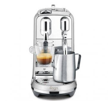 Sage The Creatista Plus Nespresso Maschine Gebürstetes Aluminium