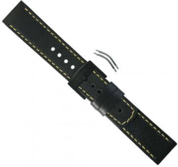 Suunto Elementum Terra/Ventus Black/Yellow Leather Armband-Set