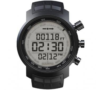 Suunto Elementum Terra Black Rubber/Helles Display Armbandcomputer