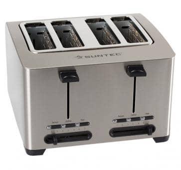 Suntec TOA-8083 V2A Edelstahl-Toaster