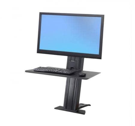 Ergotron WorkFit-SR 1 Monitor schwer kurze Oberfläche schwarz Sitz-Steh-Schreibtisch-Arbeitsplatz 33-421-085