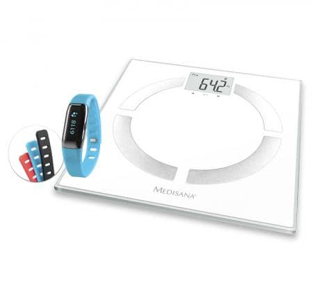 Medisana Aktionspaket BS 444 connect Körperanalysewaage + ViFit connect MX3 Activity Tracker